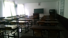 Classroom which looked like something from the early 90s