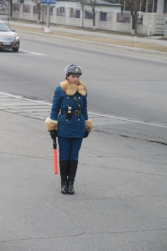 Traffic Lady - They're pretty disciplined and move a certain way all day