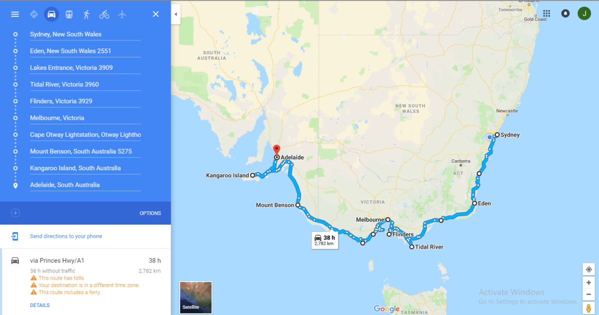 The Great Australian Road Trip – Part 1.1 – Sydney > Melbourne